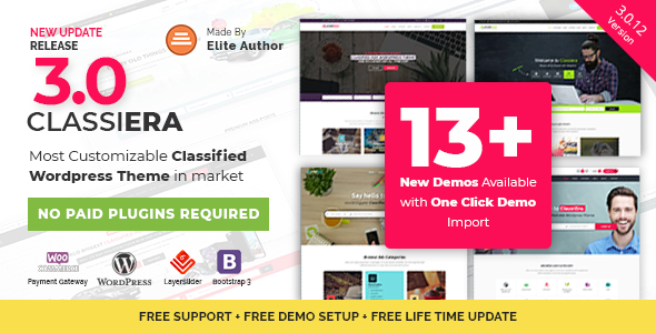 Classiera v3.0.12 — Classified Ads WordPress Theme