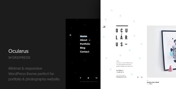 Ocularus v1.2 — Minimal Photography WordPress Theme