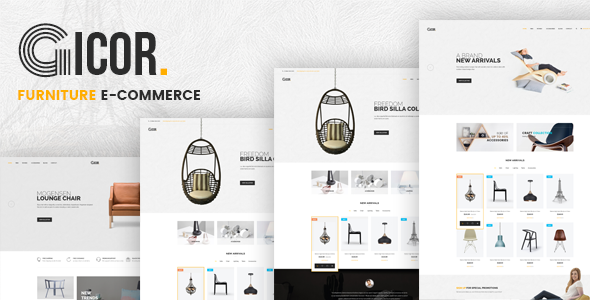 Gicor — Furniture OpenCart Theme (Included Color Swatches)