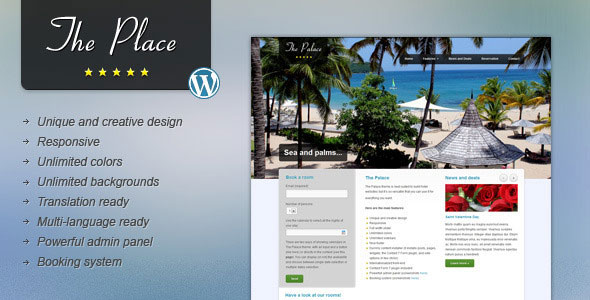 The Place v1.9.5 — Hotel WordPress Theme