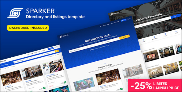 Sparker v1.1 — Directory and Listings Template