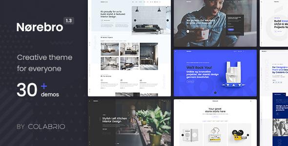Norebro v1.3.4 — Creative Multipurpose WordPress Theme