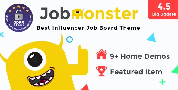 Jobmonster v4.5.1.8.6 — Job Board WordPress Theme