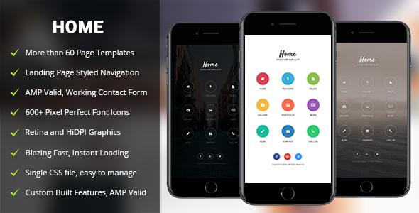 AMP Home Mobile — Mobile Google AMP Template