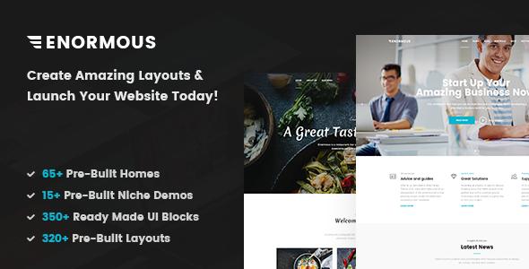 Enormous v1.0 — Responsive Multi-Purpose HTML5 Template