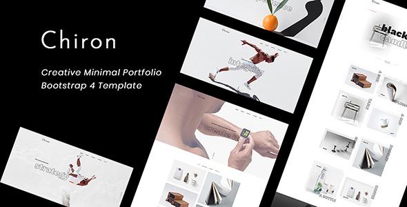 Chiron v1.0 — Creative Minimal Bootstrap 4 Portfolio Template