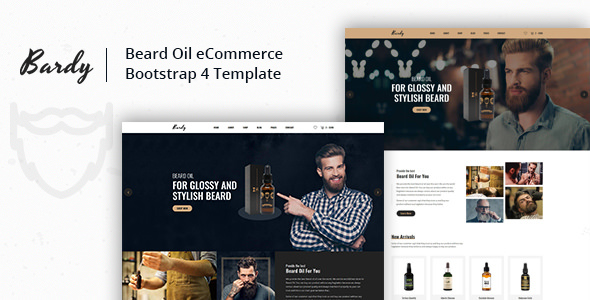 Bardy — Beard Oil eCommerce Bootstrap 4 Template