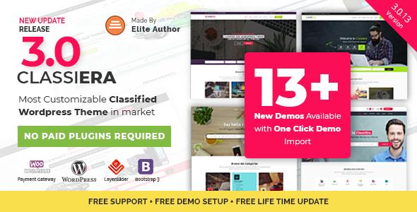 Classiera v3.0.13 — Classified Ads WordPress Theme