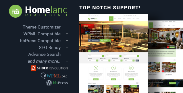 Homeland v3.2.5 — Responsive Real Estate Theme