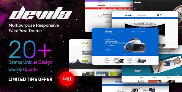 Devita — Multipurpose Responsive Magento Theme 20+ Demos