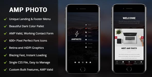 AMP Photo — Mobile Google AMP Template