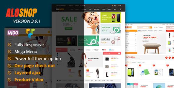 Alo Shop v3.9.1 — Mega Market RTL Responsive Theme