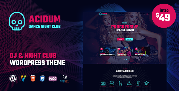 Acidum v1.3.4 — Night Club, DJ and Dance & Disco Music