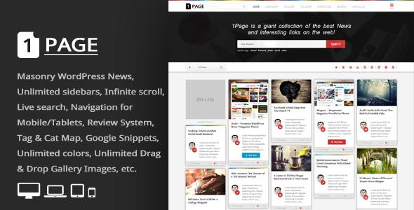 1Page v3.3 — Masonry WordPress News / interesting links