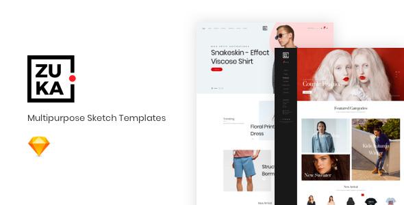 ZUKA v1.0 — Multipurpose Sketch Templates