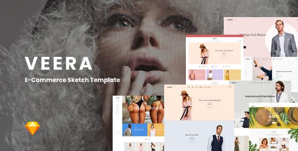 Veera v1.0 — Multipurpose eCommerce Sketch Templates
