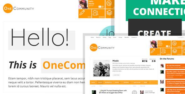 OneCommunity v2.2 — BuddyPress Community LMS Theme