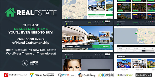 WP Pro Real Estate 7 v2.8.5 — Responsive Real Estate Theme