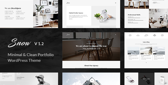 Snow v1.2.0 — Minimal & Clean WordPress Portfolio Theme