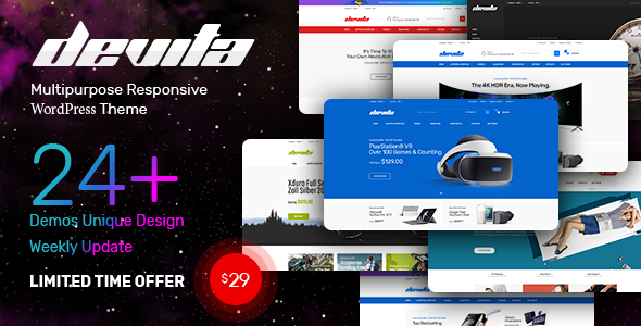 Devita v1.6.1 — Multipurpose Theme for WooCommerce
