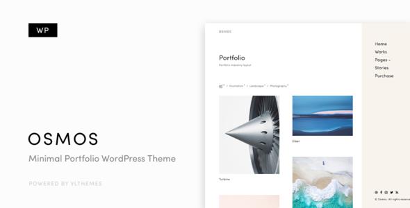 Osmos v1.3.1 — Minimalist Portfolio WordPress Theme