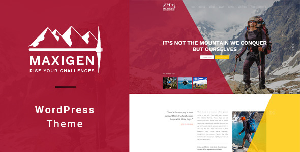 Maxigen v1.2.3 — Hiking and Outdoor WordPress Theme
