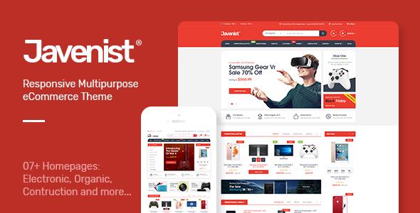 Javenist v1.2.1 — Multipurpose eCommerce WordPress Theme
