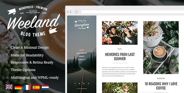 Weeland v1.2.2 — Masonry Lifestyle WordPress Blog Theme