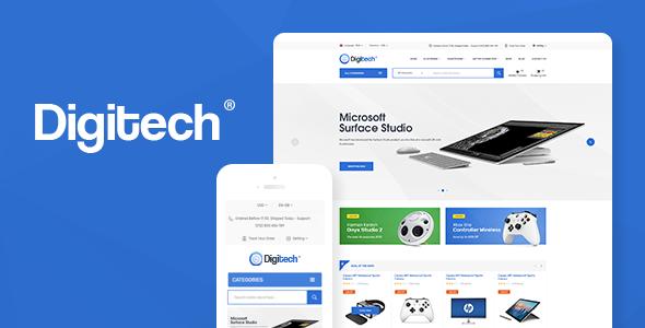 Digitech v1.0.3 — Technology Theme for WooCommerce