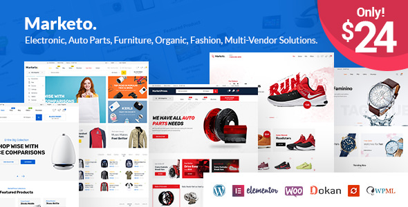 Marketo v1.3.2 — ECommerce & Multivendor Theme