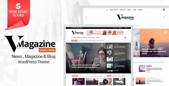 Vmagazine v1.0.9 — Blog, NewsPaper, Magazine Themes