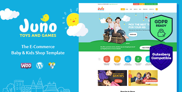 Juno v1.4 — Kids Toys & Games Store WordPress Theme