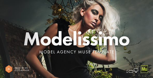 Modelissimo v2.0 — Model Agency / Fashion Portfolio Onepage Muse Template