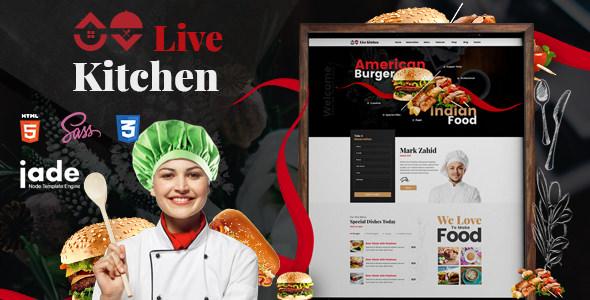 LiveKitchen — HTML5 Restaurant Template