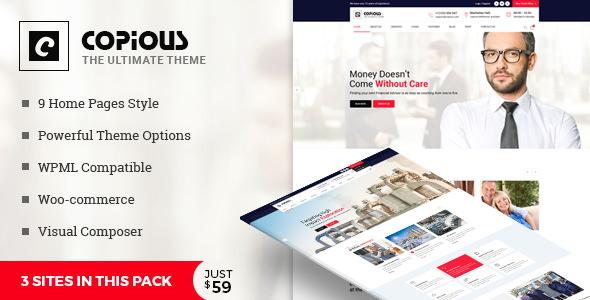 Copious v1.0 — Multiuse WordPress Theme