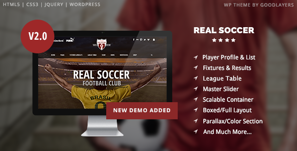 Real Soccer v2.30 — Sport Clubs Responsive WP Theme