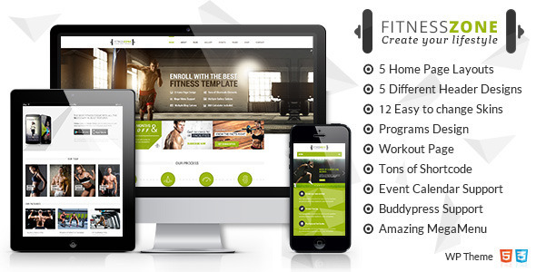 Fitness Zone v3.6 — Sports, Health, Gym & Fitness Theme