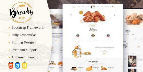 Bready — Bakery, Cakery & Food Template