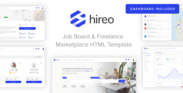 Hireo — Job Board & Freelance Services Marketplace HTML Template