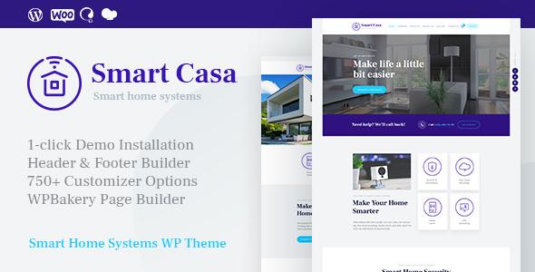 Smart Casa  v1.0 — Home Automation & Technologies WordPress Theme