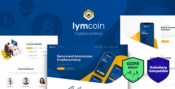 Lymcoin v1.2 — Cryptocurrency & ICO WordPress Theme