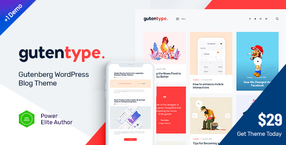 Gutentype v1.7 — 100% Gutenberg WordPress Theme