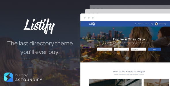 Listify v2.9.1 — Themeforest WordPress Directory Theme
