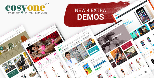 CosyOne v1.5 — Furniture, Interior, Drugstore, Lingerie, Electronics, Clothing HTML Template
