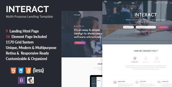 Interact — Multipurpose Landing Page Template
