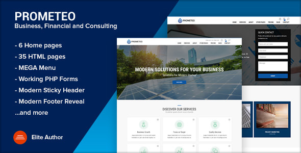 PROMETEO v1.1 — Business, Financial and Consulting Site Template