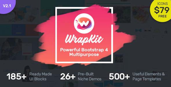 WrapKit v2.1 — Bootstrap 4 Multipurpose Template
