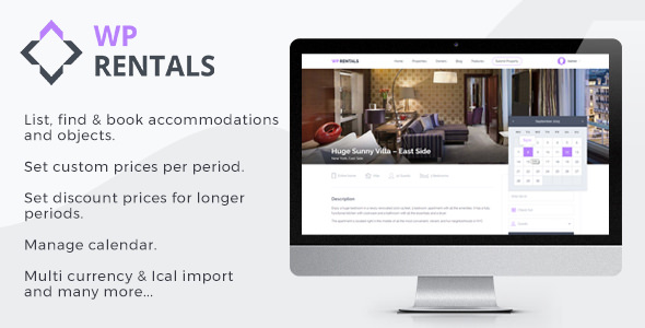 WP Rentals v2.1 — Booking Accommodation WordPress Theme