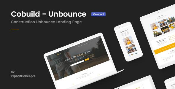 Cobuild v2.0 — Unbounce Construction Landing Page Template