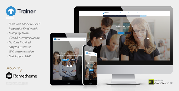 Trainer — Trainer, Mentor and Coach MUSE Template